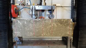 Concrete Testing showing Flexural Beam Test